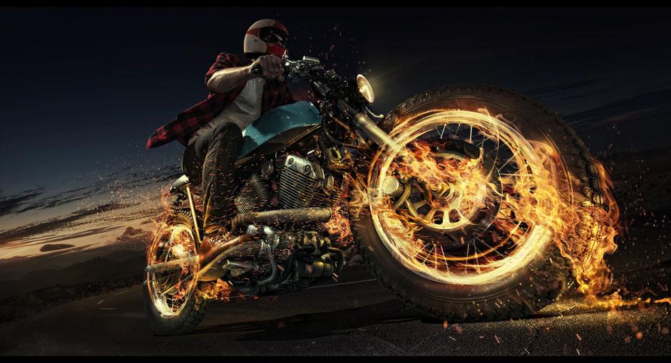 biker-flammen